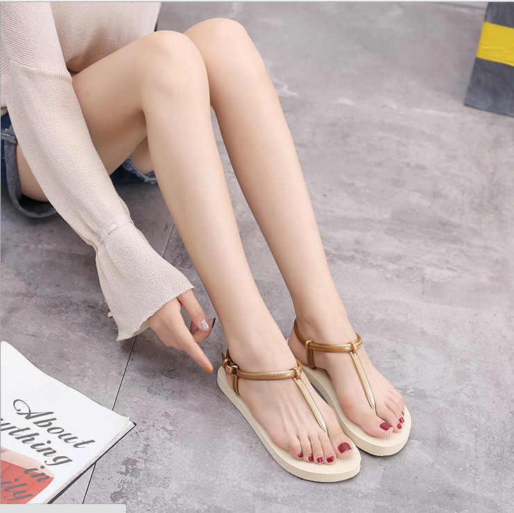2019 PVC สไตล์โรมันผู้หญิง cool ลาก-ประเภทรองเท้าน้ำหนักเบา