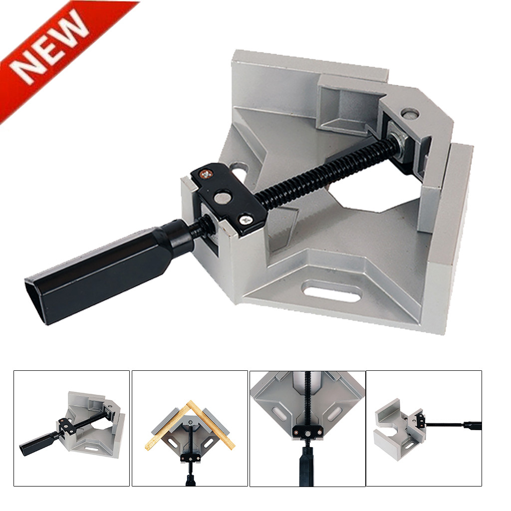 *Corner Clamp 90 Degree Right Angle Clamp DIY Corner Clamps Quick Fixed Fishtank Glass Wood Metal Welding