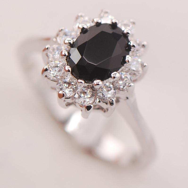 Black Onyx Women 925 Sterling Silver Ring F695 Size 5 6 7 8 9