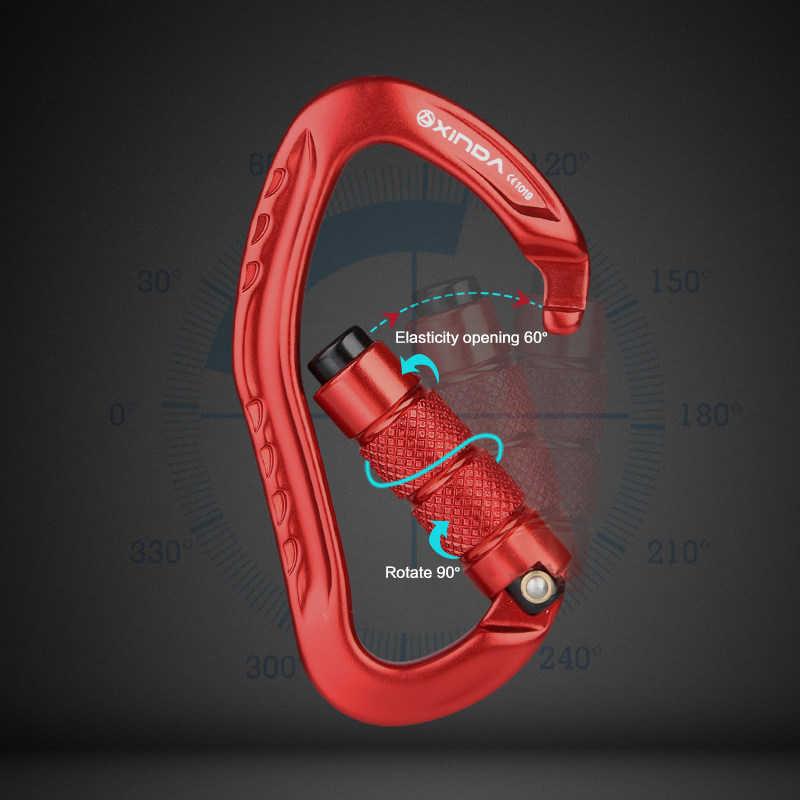 Menghasilkan Profesional Rock Mendaki Carabiner 22KN Safety Pear Bentuk Gesper Keselamatan Hiking Survival Kit Alat Pelindung