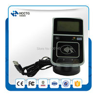 FREE SHIPPING ISO 14443 13.56MHZ USB +RJ45 Intelligent Contactless Reader With LCD+2PCS TEST CARDS +SDK Kit ACR123