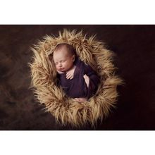 Newborn Photography Props Baby Posing Basket Blanket Plush