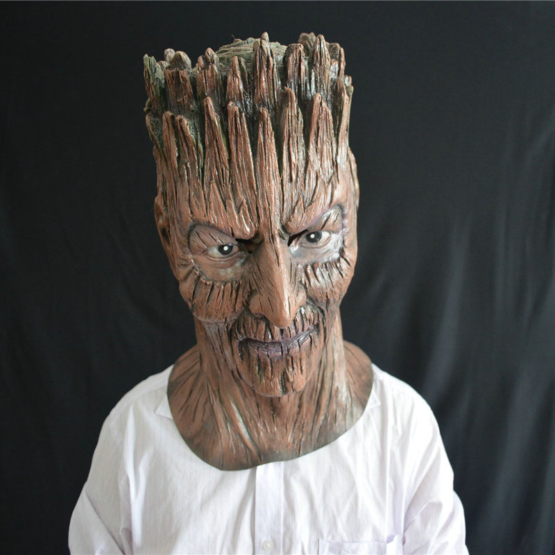 Guardians of The Galaxy Dryad Groot Latex Mask for Horror Halloween Cosplay Horror Party