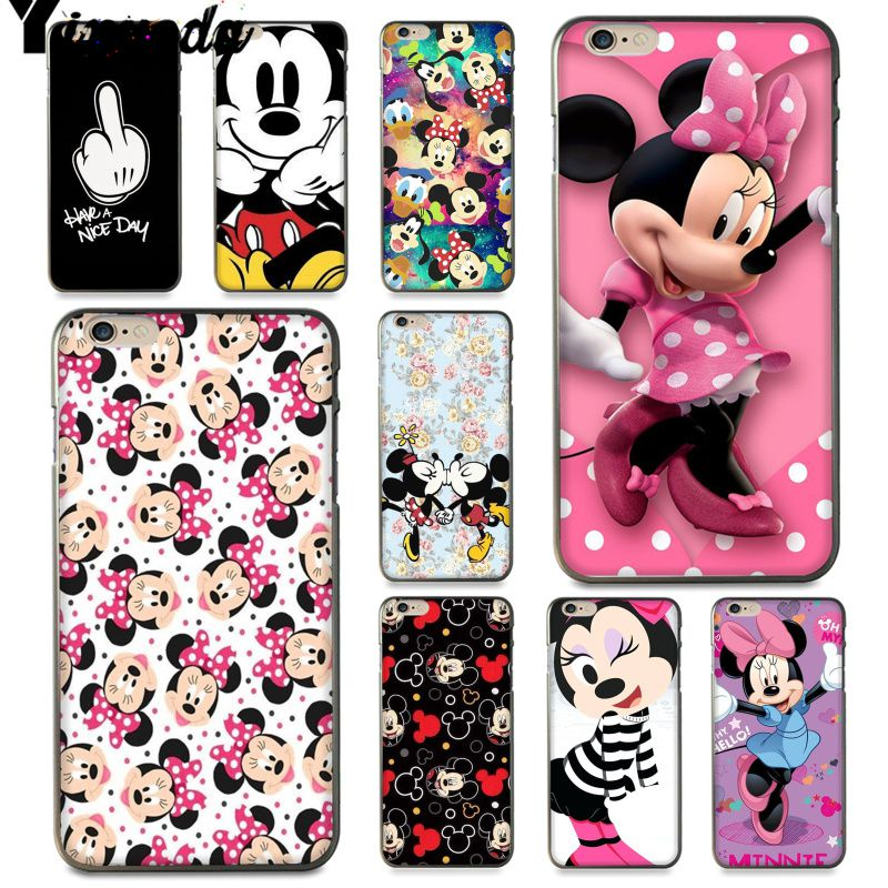 Yinuoda For <font><b>iphone</b></font> 7 6 X Case Cute <font><b>mickey</b></font> and minnie Mouse Luxury <font><b>Coque</b></font> Phone Case for <font><b>iPhone</b></font> 7 X 6 <font><b>6S</b></font> 8 Plus 5 5S SE 5C Case image