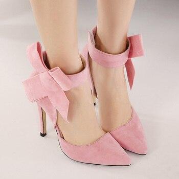 Γυναικείες ψηλοτάκουνες γόβες με φιογκάκι Γόβες Παπούτσια MSOW