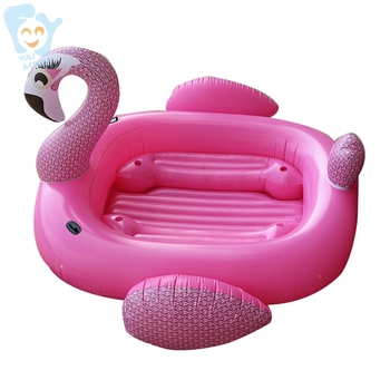 6-8 Person Inflatable Giant Flamingo Pool Floats Boat Party Bird Island Water Toys Fun Raft Sea Swimming