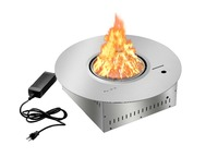 on sale 21 inch round stainless steel remote control bio ethanol fireplace