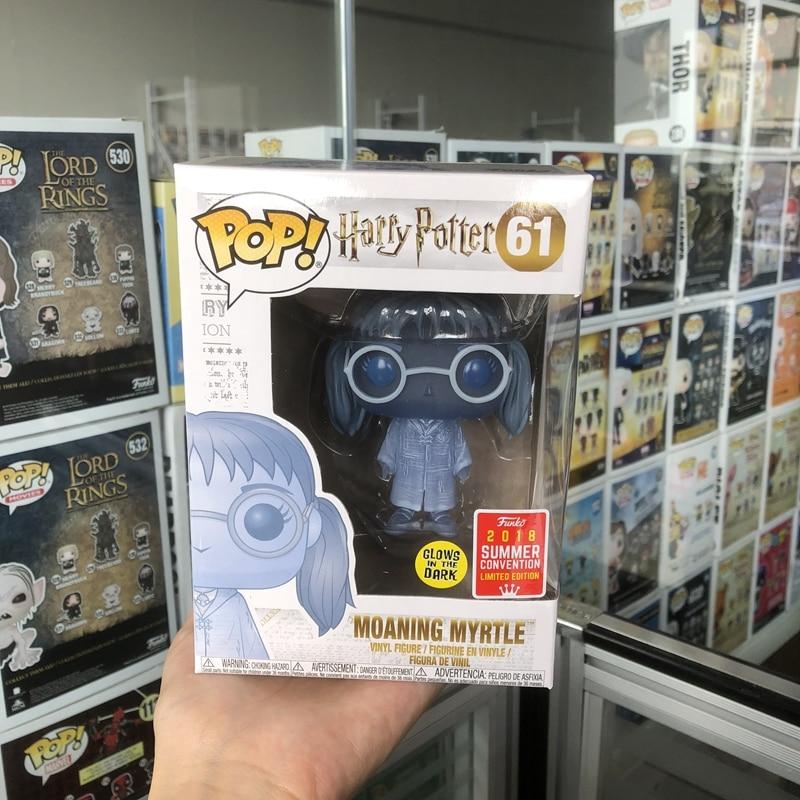 2018 SDCC exclusif FUNKO POP officiel lueur dans le noir Harry Potter-Moaninig myrte vinyle figurine à collectionner modèle jouet