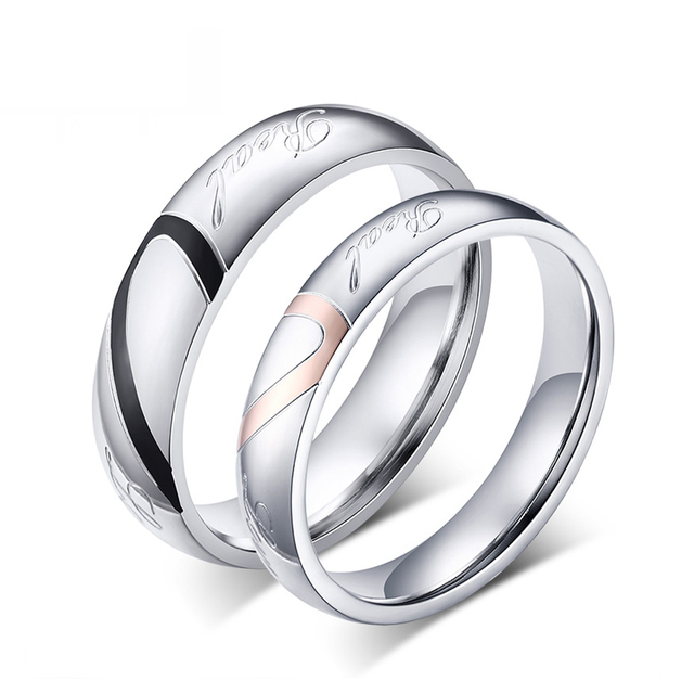couple wedding rings love heart puzzle promise ring - Puzzle Wedding Rings