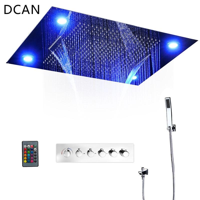€ 1409.41 47% de réduction|DCAN 5 Fonctions Intelligent kit de douche  Moderne De Luxe de Style Européen Grand SUS304 Cascade Salle De Bains ...