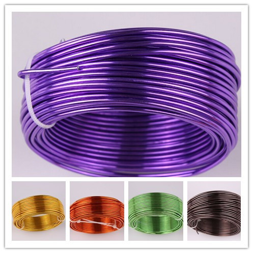 25 Rolls 25x5meters 25 colors 12 gauge 2mm Diy Jewelry Aluminium Wire Free Shipping