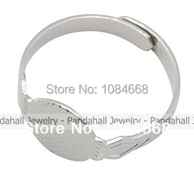 200pcs Brass Ring Components, Pad Ring Blank, Platinum Color, Size: about 18mm inner diameter, 10mm wide