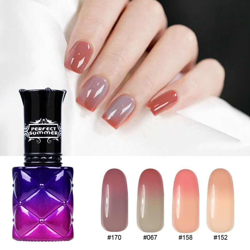 Color Changing Gel Nail Polish: Perfect Summer LED Nail Gel Polish Change Color With