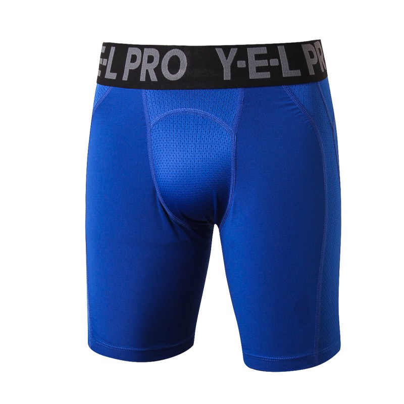 New Arrival Summer Men Fitness Skinny Work Out Comfortable Shorts Spliced Mesh Breathable Super Stretch Solid Casual Boy Shorts