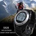 S928 real-tempo de freqüência cardíaca rastreador gps smart watch phone temperatura ambiente de pressão de ar altura relógio esportivo pk k88h gw01