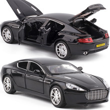 1/32 Aston Martin One-77 Metal Toy Cars Diecast Scale Model With Pull Back Function/Music/Light/Openable Door Kids Present Toys(China)