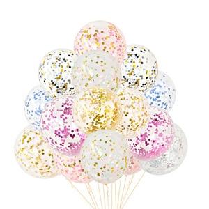 Image 4 - 5Pcs 12 zoll Konfetti Luftballons Klar Ballons Party Hochzeit Party Dekoration Kid Kinder Geburtstag Partei Liefert Luft Ballon Spielzeug