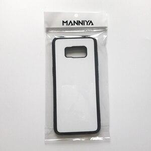 Image 4 - MANNIYA 2D Sublimazione in bianco TPU + PC della Cassa della gomma per Samsung Galaxy S8/S8 + con Inserti In Alluminio di Trasporto trasporto libero! 50 pz/lotto