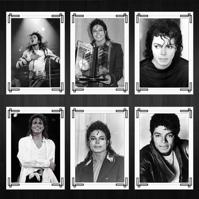 World Dance King Michael Jackson Posters Black And White Photo Home Room Decor High Quality Printing