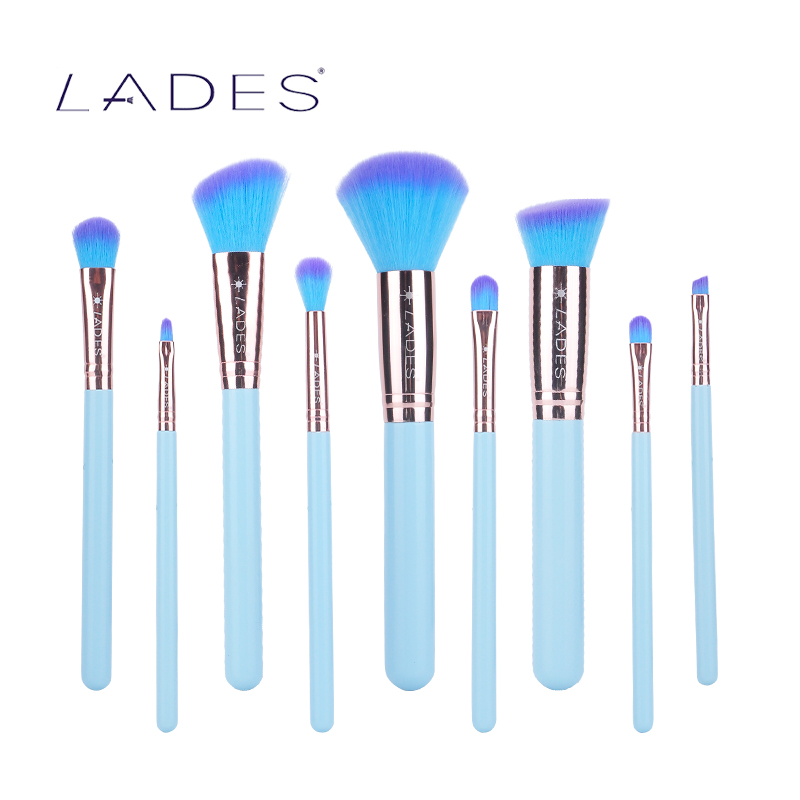 LADES Maquiagem Makeup Brushes Set Eyeshadow Pro Foundation Powder Blush Eyeliner Cosmetic Pincel Maquillage Rose Golden AL Tube 8mm hose barb x 1 8 bspt male connection air brass ball valve water gas