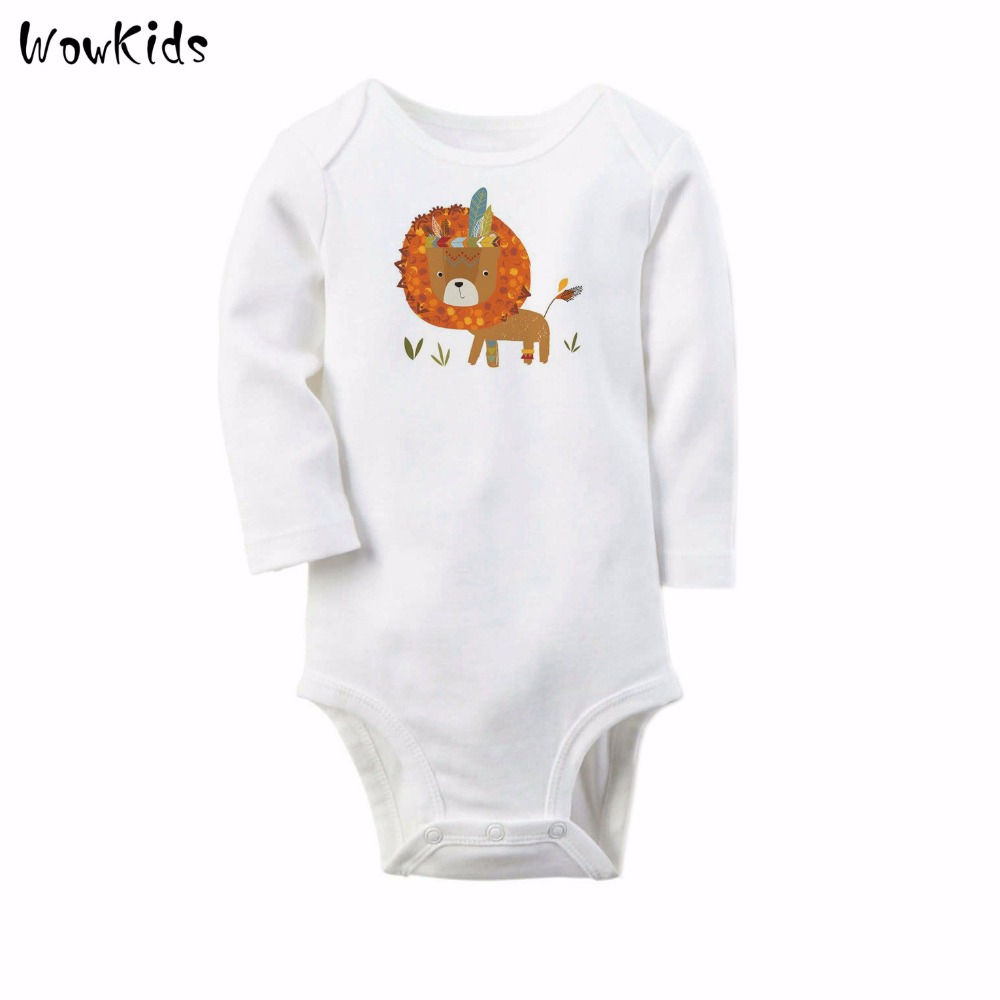 Lion Fox Baby Boy Rompers Long Sleeve Winter Newborn Baby Clothes Infant Body Bebe Clothing 0-12M New Born Products penguin fleece body bebe baby rompers long sleeve roupas infantil newborn baby girl romper clothes infant clothing size 6m