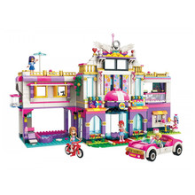 ENLIGHTEN City Girls Friends Princess Fantasy Carousel Train Colorful Holidays Building Blocks Sets Bricks Model Figures Toys