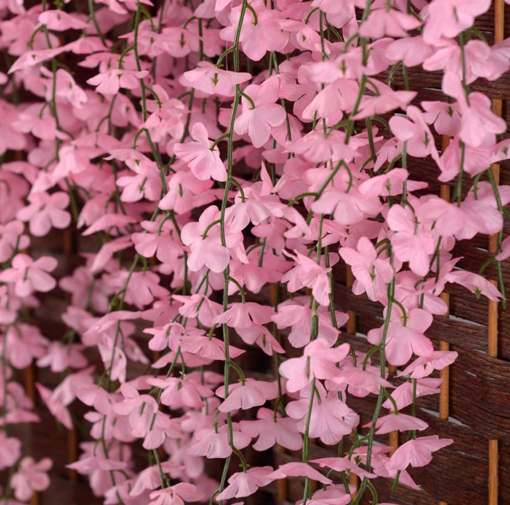 White red pink purple yellow artificial cherry blossom silk flower white red pink purple yellow artificial cherry blossom silk flower vine wall hanging wisteria for home and wedding decorations in artificial dried flowers mightylinksfo