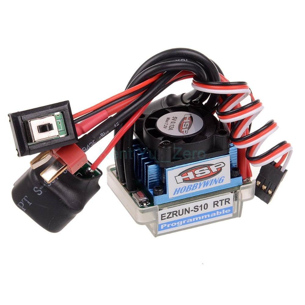 Brushless ESC 45A 2-3S Lipo RC For HSP 1/10 37017 (03307)Truck Buggy Electric,For a variety of models