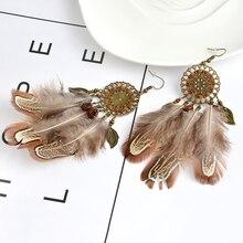 Feather Earrings Fashion Vintage Jewelry Trendy Earrings