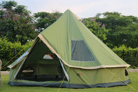 Los Клен Открытый индийский учетной записи Монголия мешок 5 8 человек Кемпинг семьи защита от дождя солнцезащитный крем для отдыха палатки