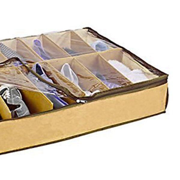 HOT SALE 2x Underbed Shoe Store Organiser - 12 Pairs
