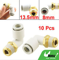 10 Pcs Push in to Connect Pneumatic Elbow Fitting 1/4