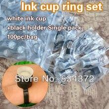 100 PCS/bag Permanent Makeup Disposable Finger Ring Ink Cups With Sponge