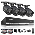 Annke 4ch 720 p ahd dvr vídeo 4 pcs 1200tvl cctv casa Câmeras de segurança 720 P HD Noite IR Visão Outdoor Sistema de Vigilância Kit