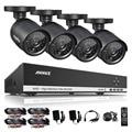 Annke 4ch 720 p ahd dvr video 4 unids 1200tvl cctv Cámaras de seguridad 720 P HD Al Aire Libre IR Kit Sistema de Vigilancia de Visión Nocturna