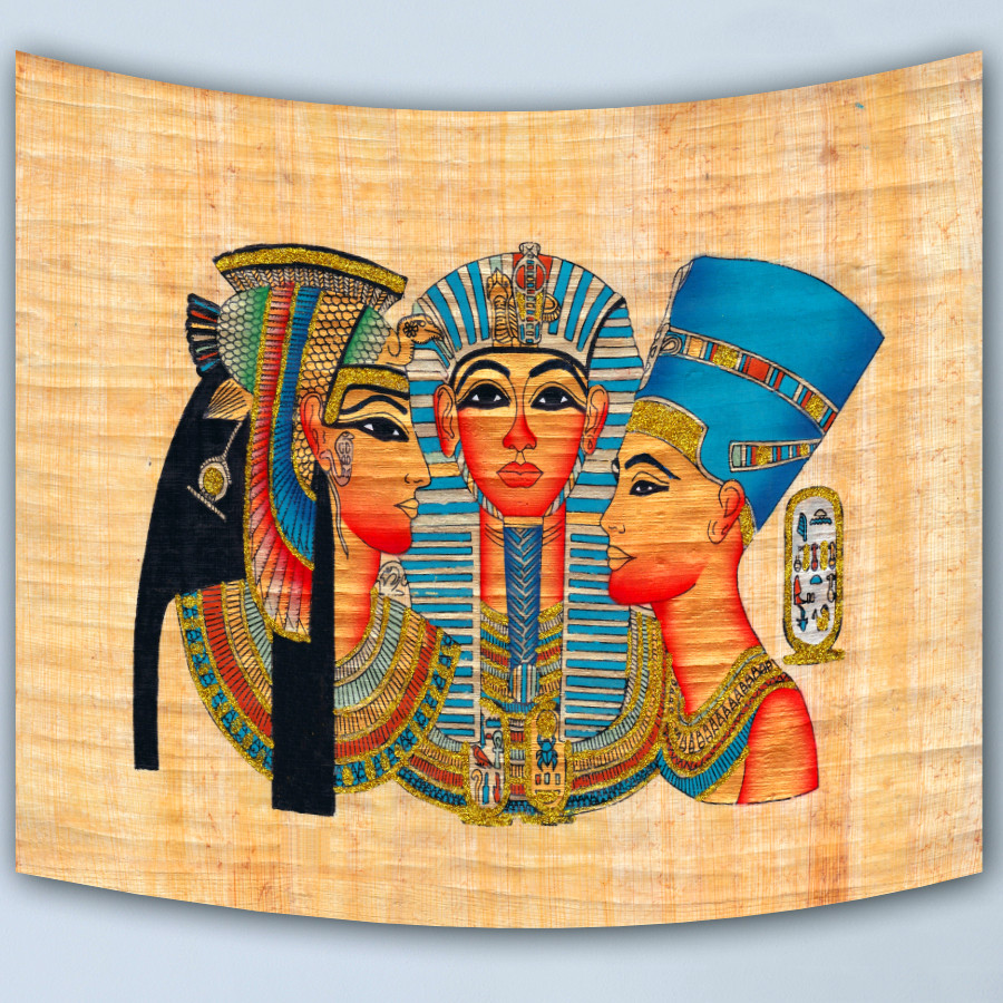Hot sale Egpt style home decorative wall tapestry hanging carpet comfortable sofa cover beautiful picnic mat Egyptian Pharaoh