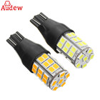 1Pcs T15 W16W white yellow LED Car Reverse Light Bulbs 920 921 2835 45SMD LED Auto Backup Parking Light Lamp Bulbs 12V 24V