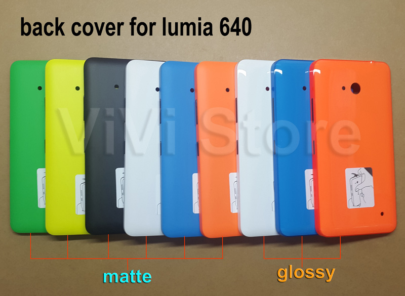hot sale online 40fe9 8ced1 US $4.99 |Minder maar beter Echt Behuizing Achterkant voor Microsoft lumia  640 Rear Batterij Cover Capa Shell voor Nokia lumia 640 in Minder maar ...