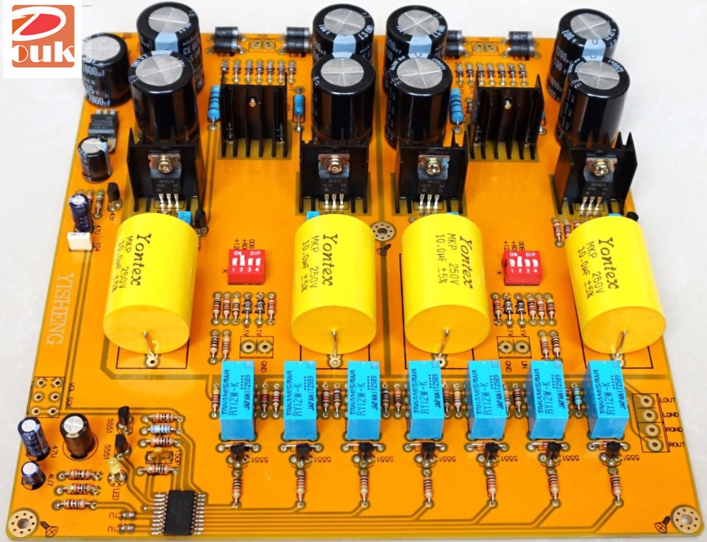 PASS 2.0 Single-Ended Class A HiFi Preamp MOSFET Pre-Amplifier Assembled Board