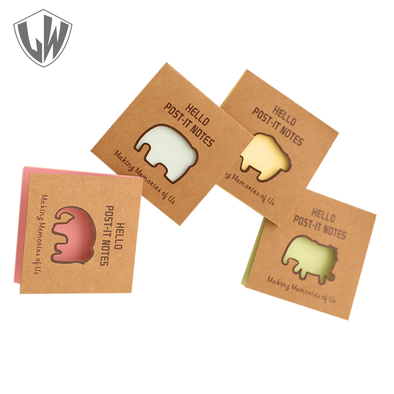 50 Pages each Pack Animal Memo Pad Elephant Series 7.6*7.6cm Post It Notes Kawaii Cute Sticky Notes Stickers Scrapbooking