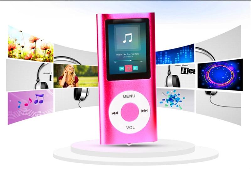 5 színek Kiváló minőségű betét TF kártya MP3 lejátszó Slim - Hordozható audió és videó