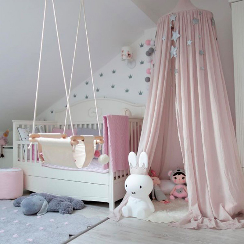 Kids Boys Girls Princess Canopy Bed Valance Kids Room Decoration Baby Bed  Round Mosquito Net Tent Curtains In Mosquito Net From Home U0026 Garden On ...