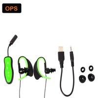 New LED IPX8 waterproof MP3 player headphone,swimming earphone and running headphone &built in 4G memory card headset