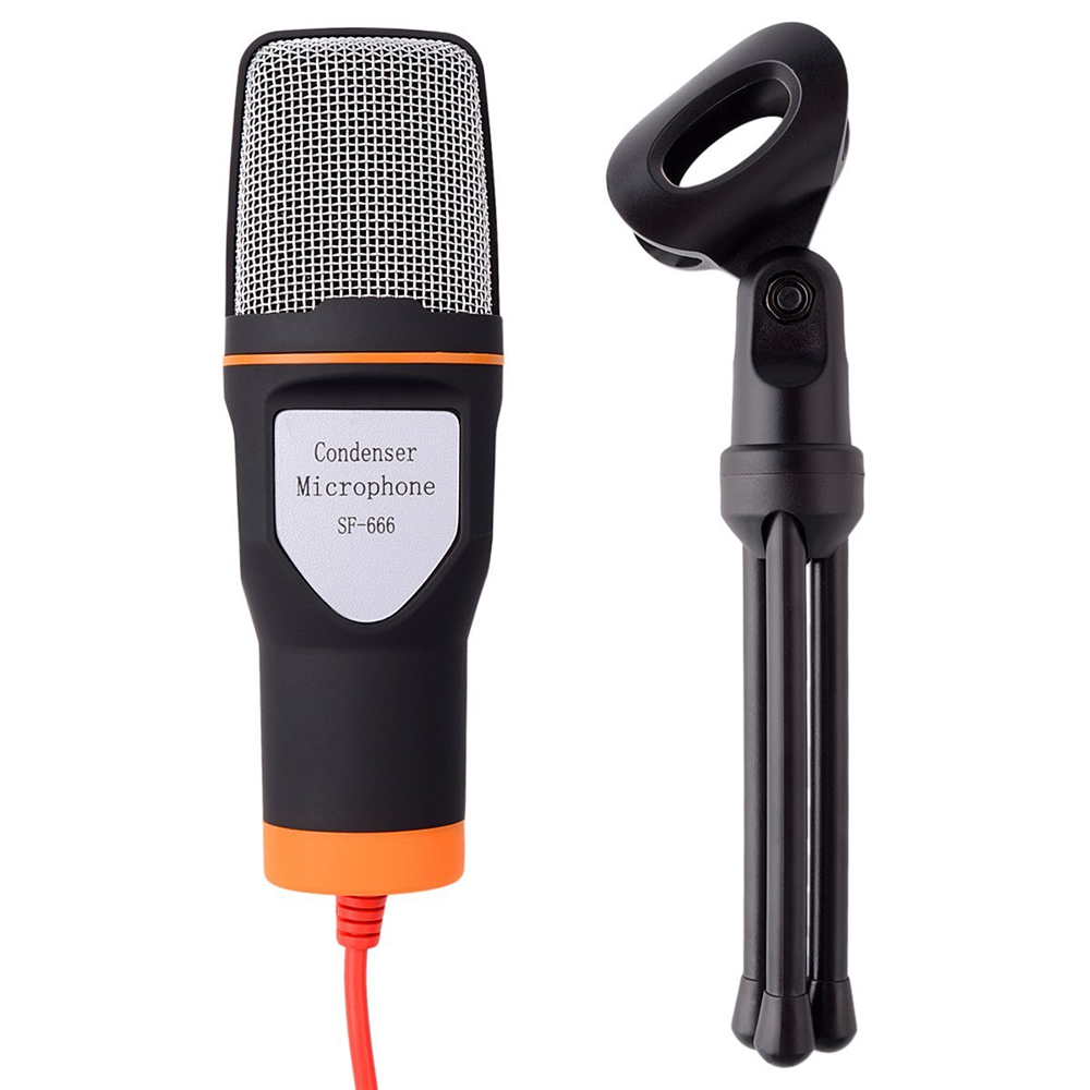 GEVO SF666 NEW High Quality Professional Computer Microphone Mic Stand For PC Laptop Skype MSN Singing 20PCS/Lot Free DHL 5