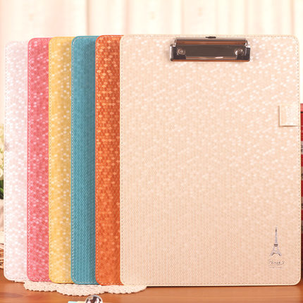 Quality leather A4 Folder Clipboard Writing Pad File Clip Board creative a4 clipboards lovely stationery store clip folder board desk file drawing writing pad school office accessory tool jb04
