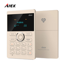 White Promotion!Original AIEK E1 Ultra Thin Russian English Arabic Keyboard Mini Card Low Radiation Single Unlocked Mobile Phone