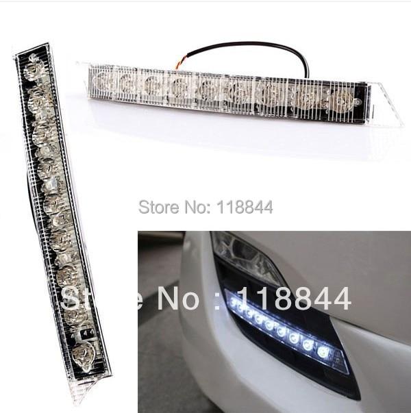 Светодиодные дневные ходовые Противотуманные фары комплект евро дневного света DRL DALight автомобиль дневной свет авто день свет 18W наивысшей мощности
