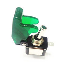 Car Cover LED SPST Toggle Rocker Switch Control 12V 20A On/Off