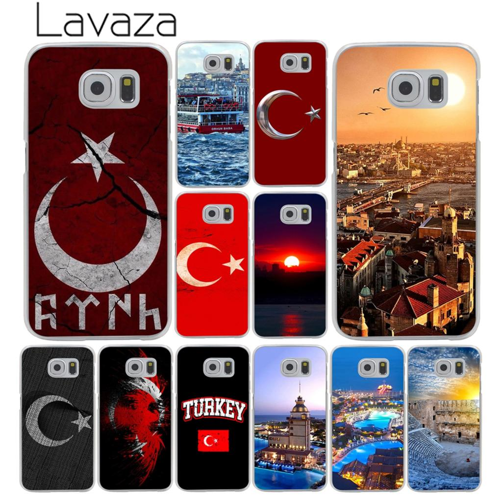 Lavaza Typography Flag of Turkey Istanbul Antalya mustafa Cover Case for Samsung Galaxy S7 S6 Edge S3 S4 S5 & Mini S8 S9 Plus