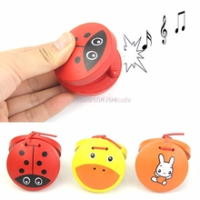 Wooden Castanets Musical Percussion Instrument Kids Educational Toys #H055#